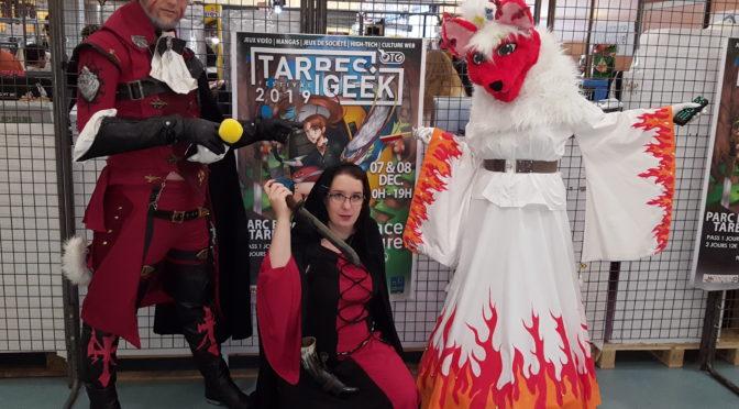 Kesaco présente à Tarbes Geek Festival – la présidente gagne le 2eme prix du concours cosplay.